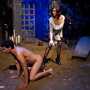 Three master women punished a bad boy