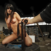 Crestfallen Angie got her breast and bottom punished