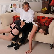 Wife got spanked on the lap