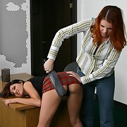 Babe with hot ass gets punished in school