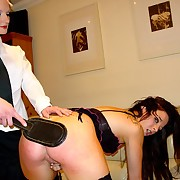Caning of two hot girls