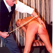Spanking and caning of hot blonde girl