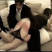 Black hotty spanked & caned on her large luscious arse