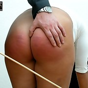 Brutal bottom caning
