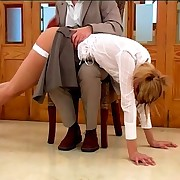 Otk spanking with blonde babe