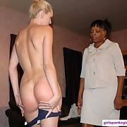 A blonde was spanked otk