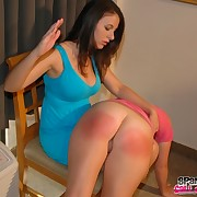 Bare wazoo over the knee spanking
