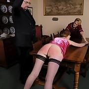 Brutally punished mature slut