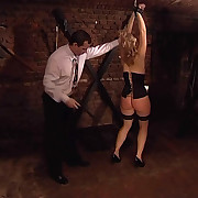 Dark bdsm room Spanking together with tying from East Europe