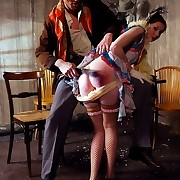 The corrupt wife getting brutally spanked on the bed