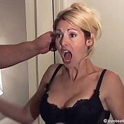 Husband spanked cheating wife heavy