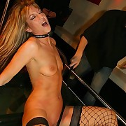 Slave`s pussy gets bullwhipped