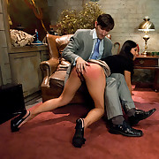 Perverted hypnotist turns Tia into a tractable anal ache slut.