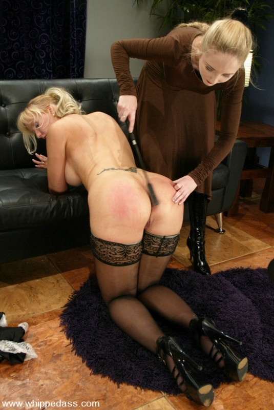 Spanking naughty twins whipped ass