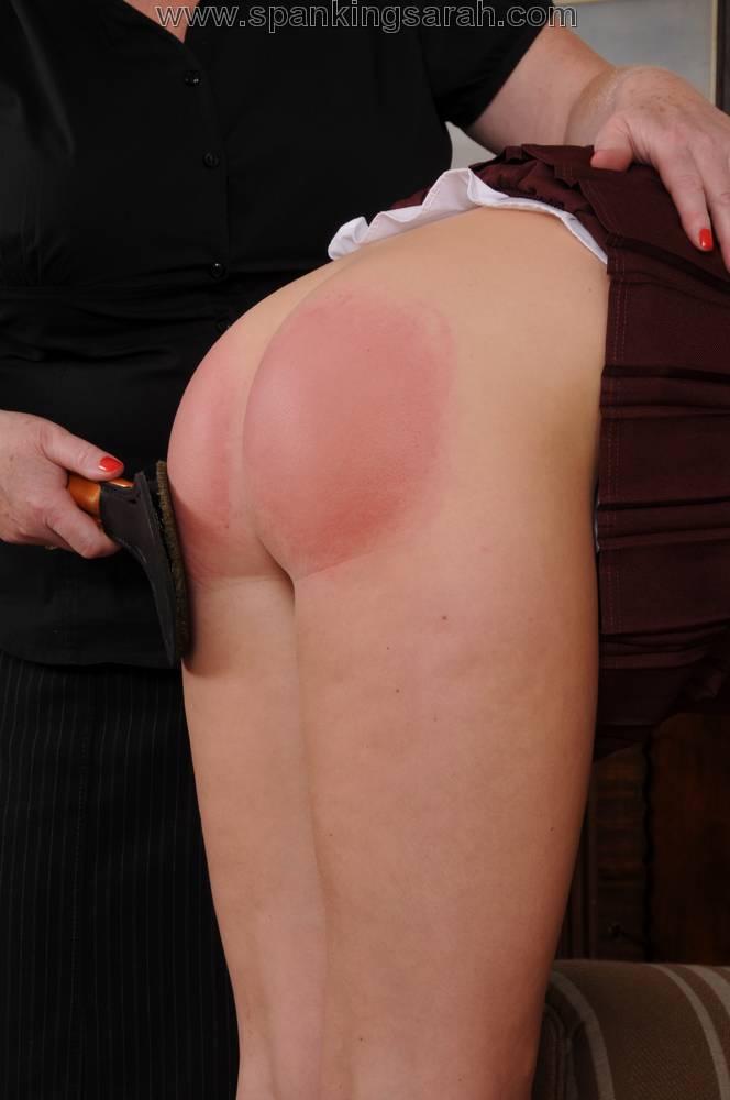 Baring the butt boy spank
