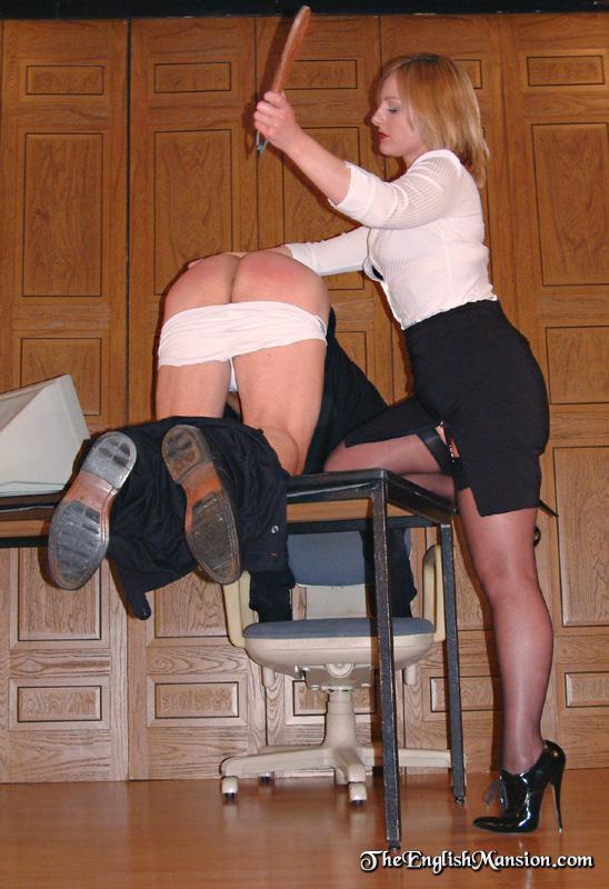 Lady boss punish male employee
