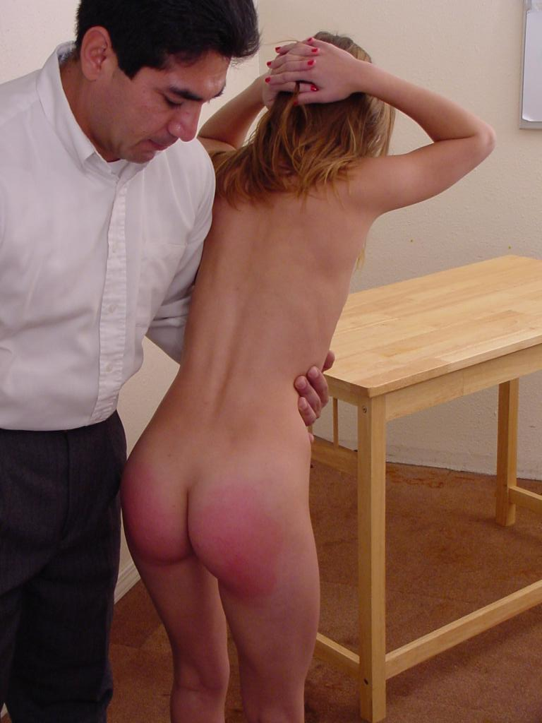 One professor spanks dominates naughty female student Elena from