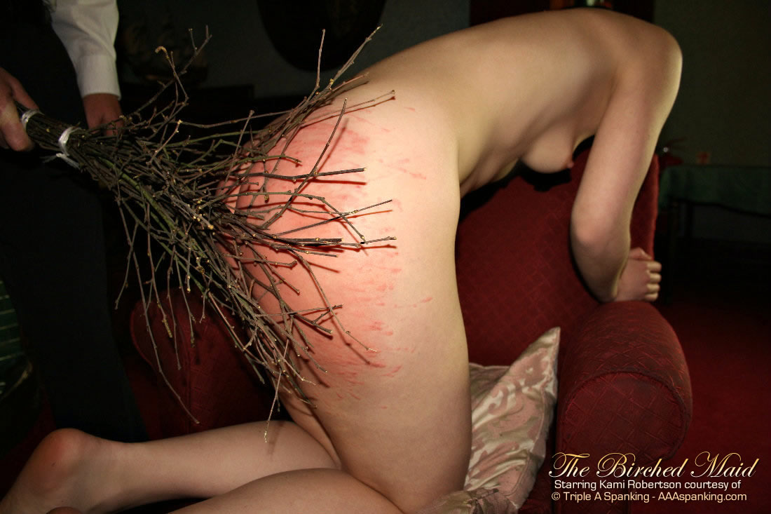 Birching of young lady spank