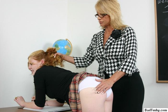 In classroom spanked sleeping teacher