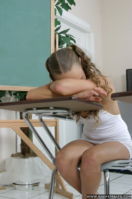 Are Teacher spanked in classroom sleeping something
