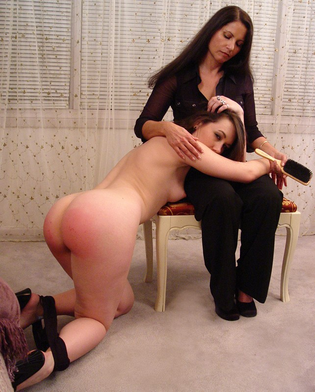 hairbrush spanking tgp discolored depiction