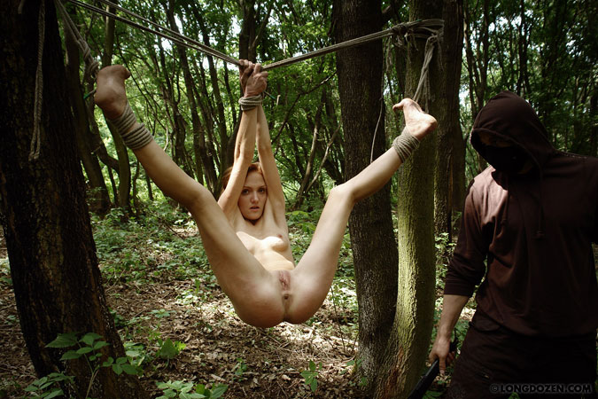 Agree, Nude women tied up outside