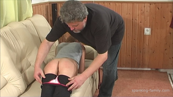 Family tradition her bottom spank