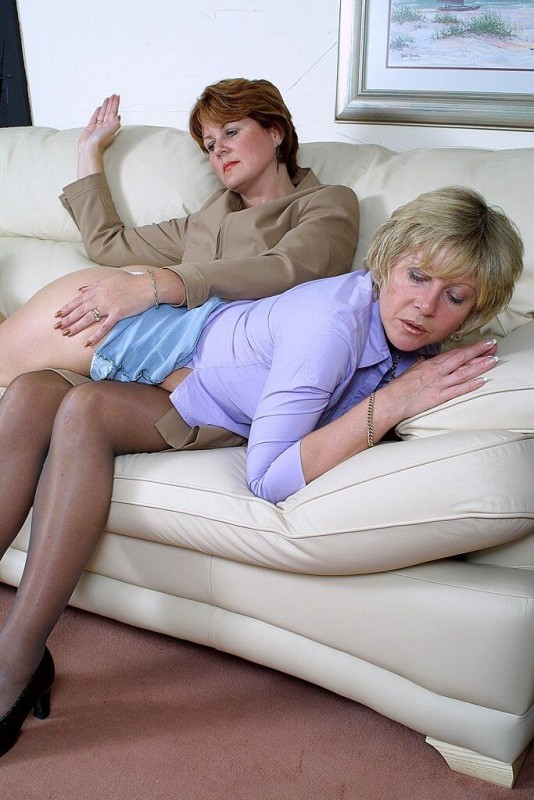 mature woman spanked