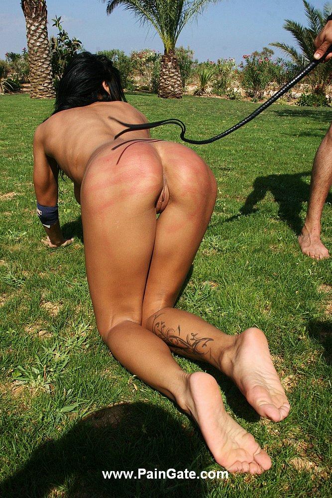 Outside bdsm ass whipping