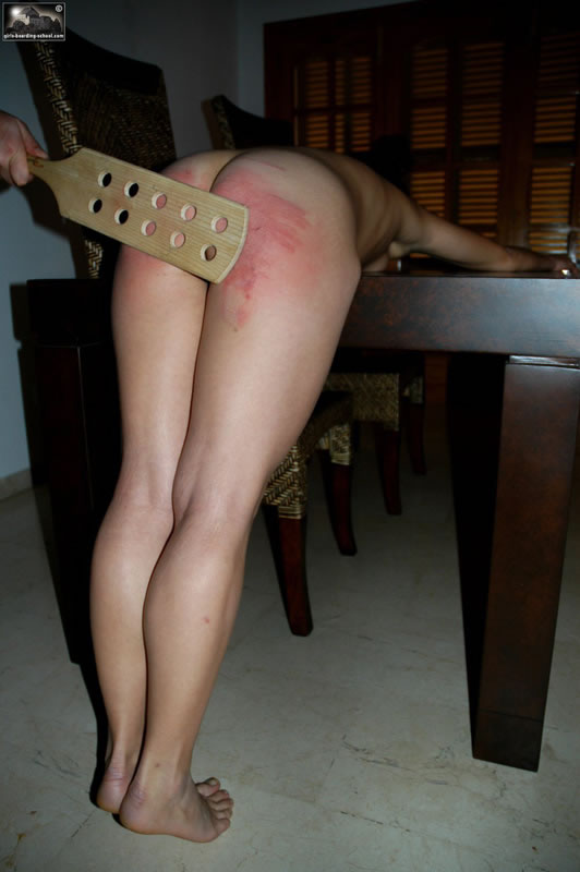 Getting bare ass spankings