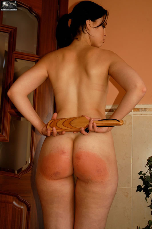 women Spanking bare butt naked