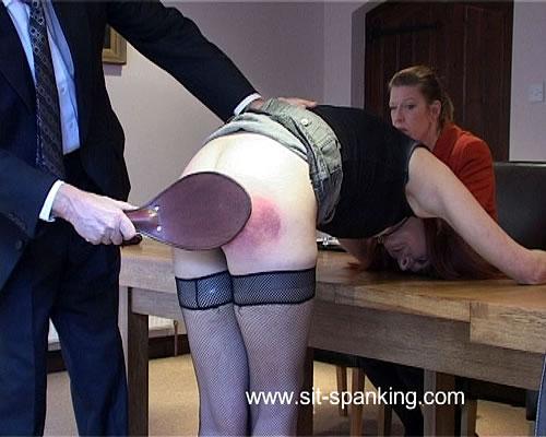 Spanking anus shame