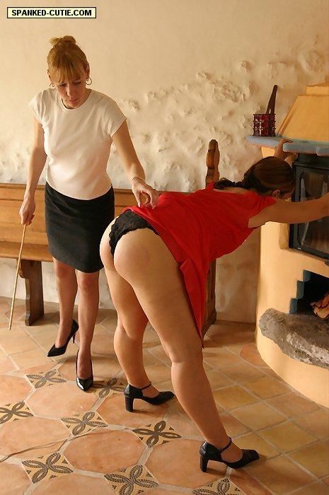 Spanked cutie spanking