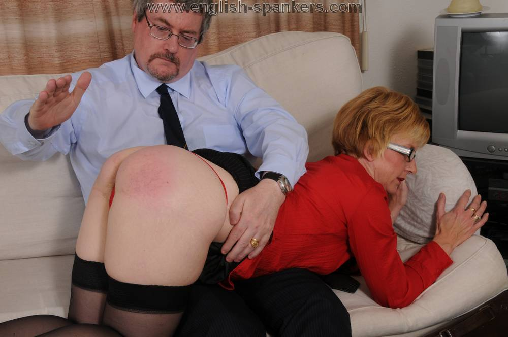 Mature english spanking