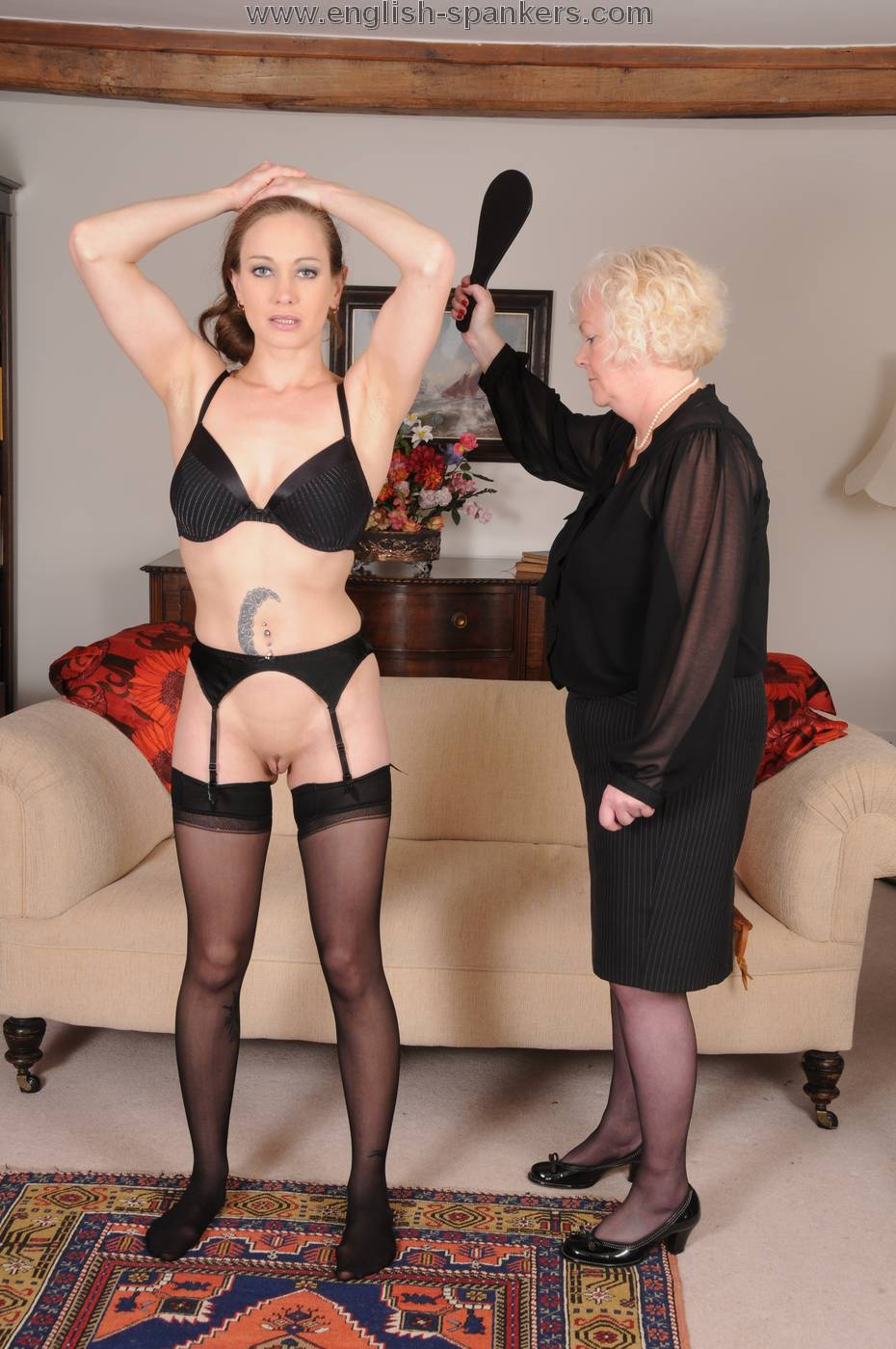 Welting her bare bottom spanking 8