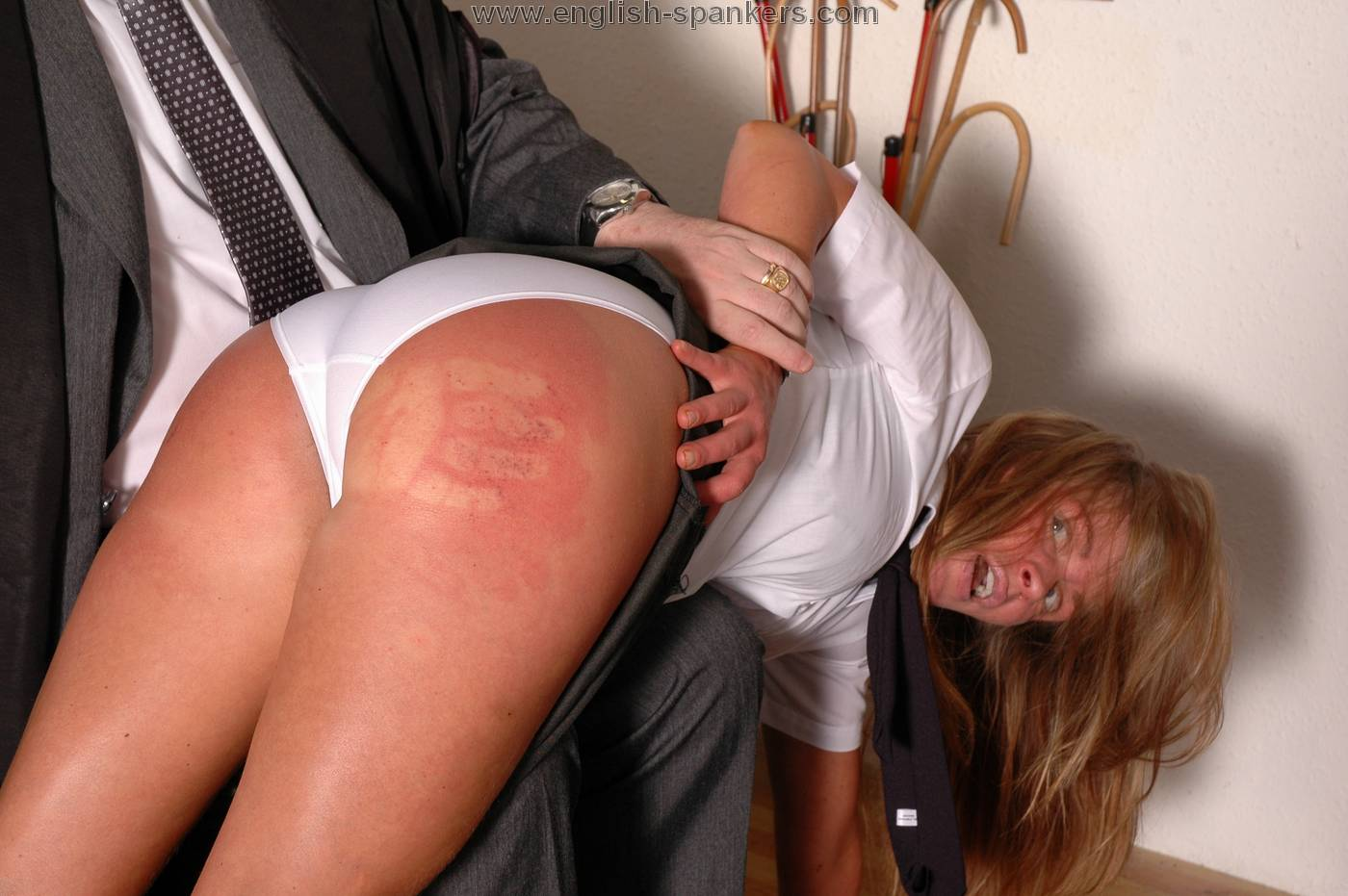Older women spanked naked
