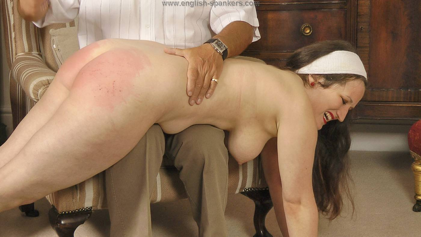 Quite good Girl being spanked naked