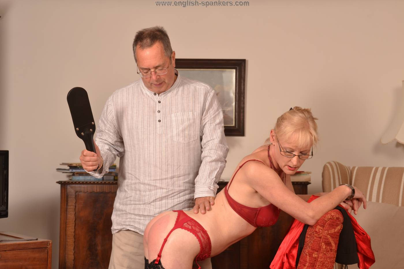 Mature women being caned