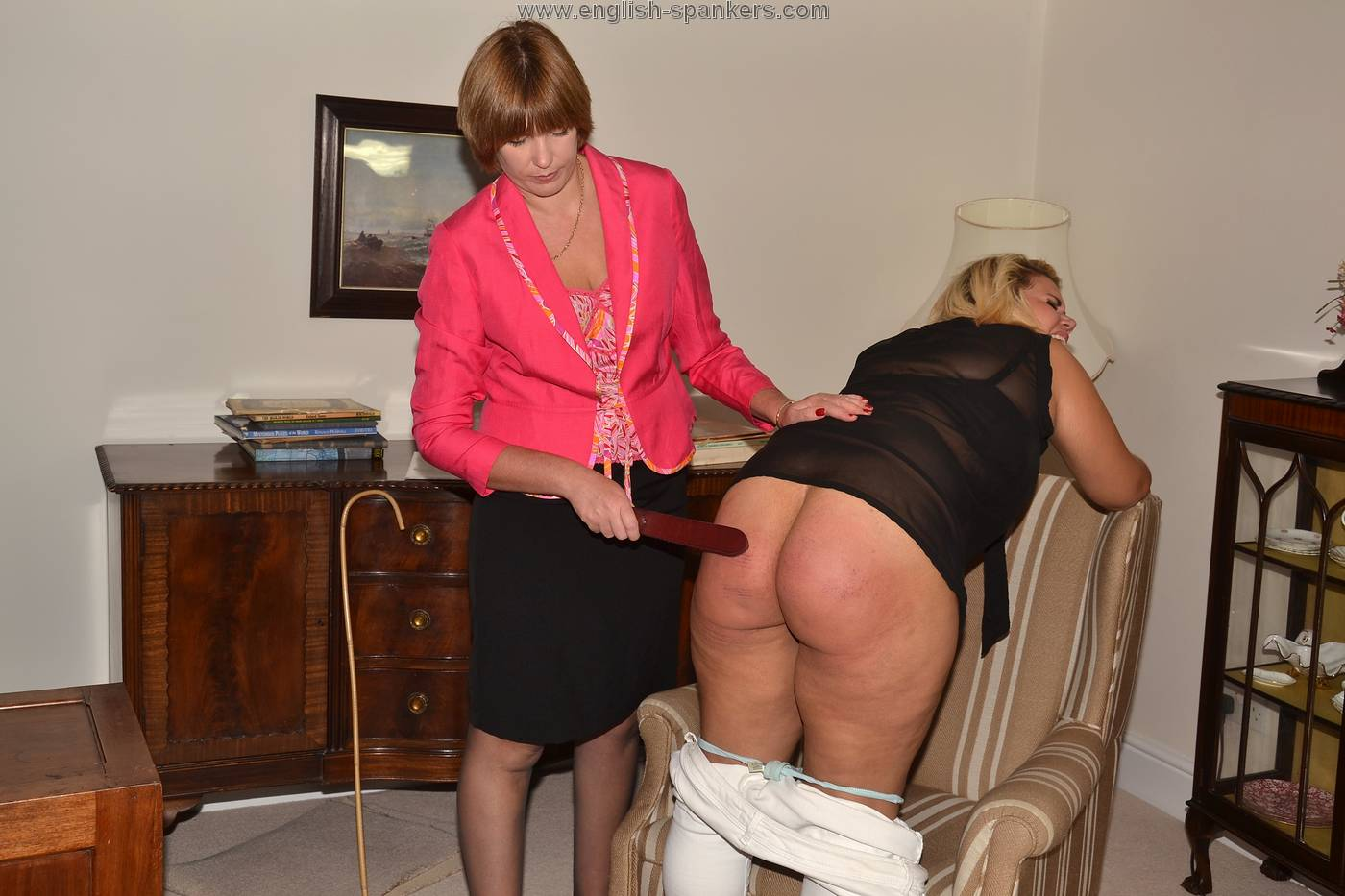 mature women being spanked