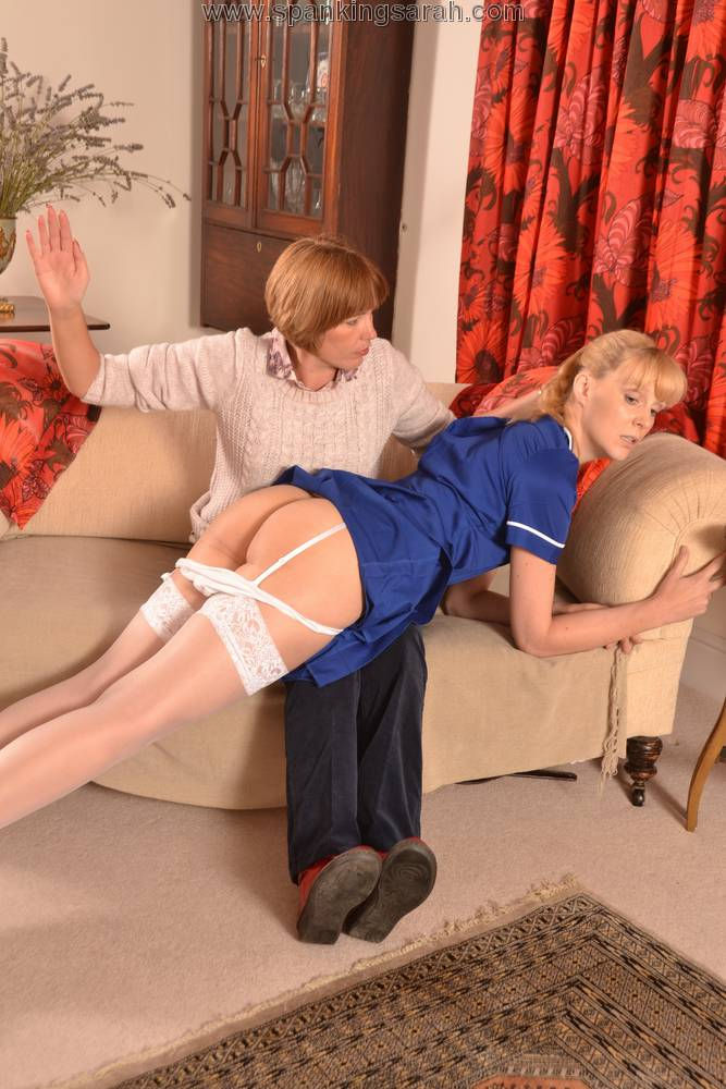 Welting her bare bottom spanking 4