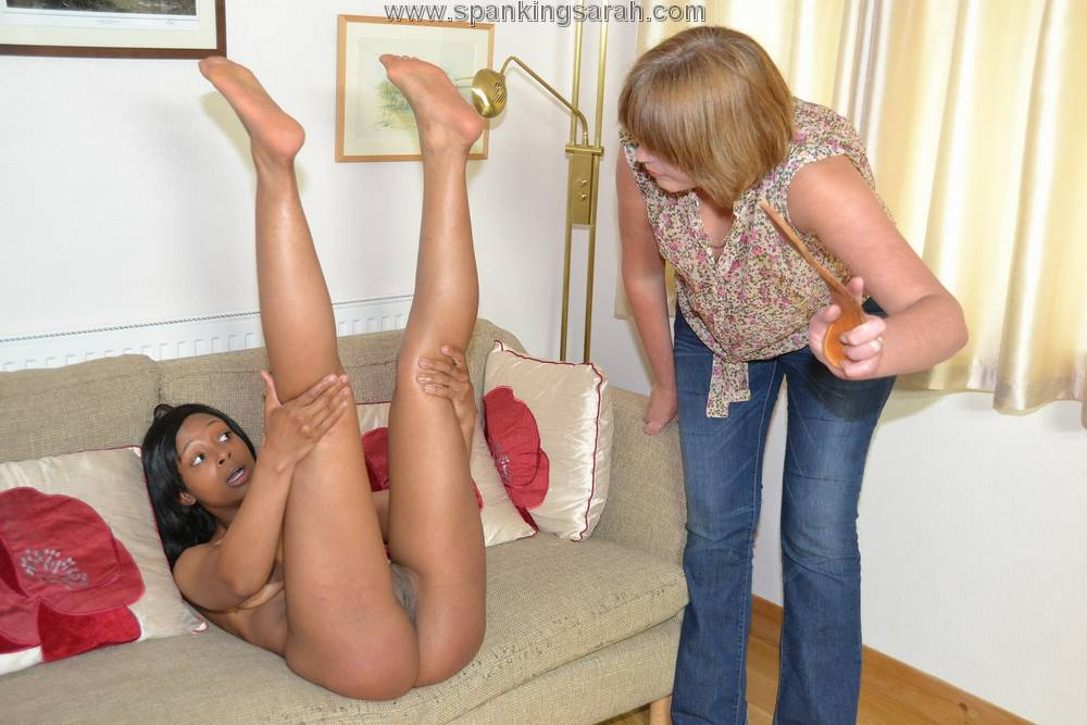 Welting her bare bottom spanking 9