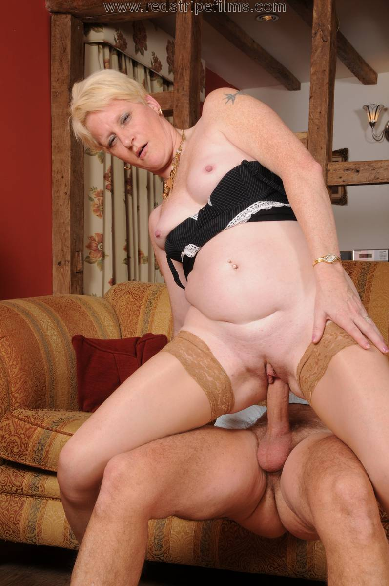 Mature blonde nurse measures patients penis soft and erect 6