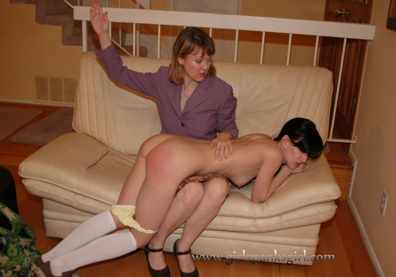 Welting her bare bottom spanking 10