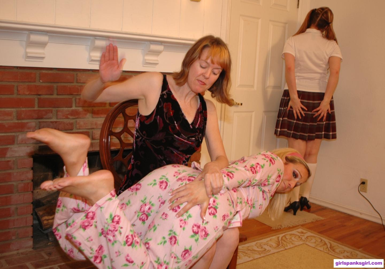 Lady spank girl