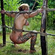 The sadistic Master from wood teaches slavegirl the dangers of wandering so far alone