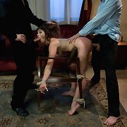 Felony tied up and double penetrated by the debt collectors