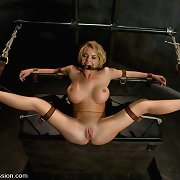 busty girl submits for weenie engulfing and sex in bondage!