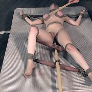 Blonde was rough roped and fucked
