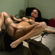 Chanel Preston submissioned, tied and fucked by airport security