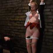 Cute beauty in bdsm and sex role play